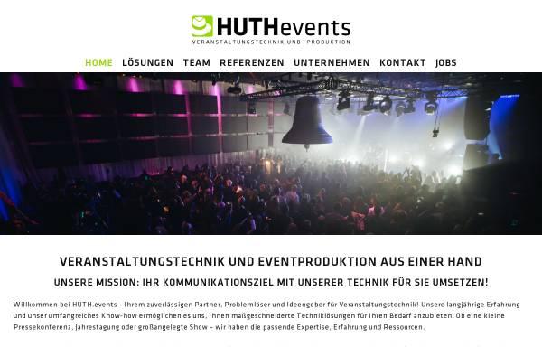Vorschau von www.huthevents.de, HUTHevents Veranstaltungstechnik und -produktion