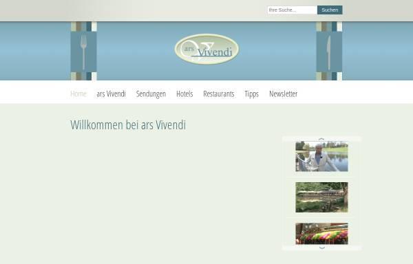 Vorschau von www.arsvivendi.de, Ars Vivendi
