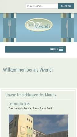 Vorschau der mobilen Webseite www.arsvivendi.de, Ars Vivendi