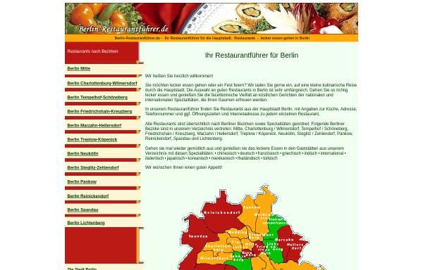 Vorschau von www.berlin-restaurantverzeichnis.de, Berlin-Restaurantverzeichnis.de