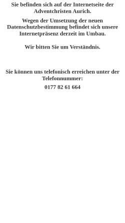 Vorschau der mobilen Webseite pfadfinder.jade-ems.de, Christliche Pfadfinder Aurich