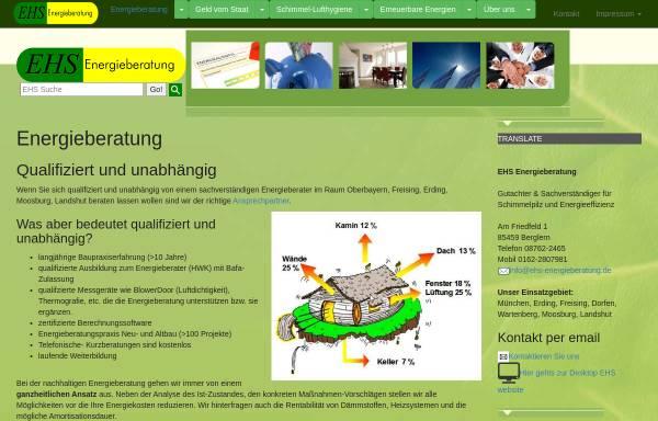 Vorschau von www.ehs-energieberatung.de, EHS Energieberatung - Erich Gerbl