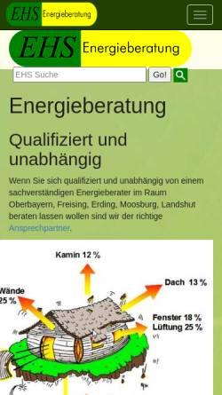 Vorschau der mobilen Webseite www.ehs-energieberatung.de, EHS Energieberatung - Erich Gerbl