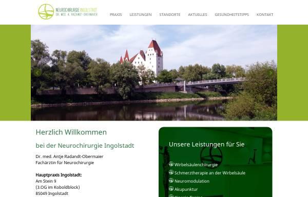 Vorschau von www.neurochirurgie-ingolstadt.de, Dr. med. Antje Radandt-Obermaier