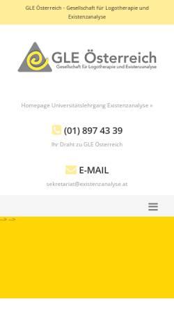 Vorschau der mobilen Webseite www.gle.at, Gesellschaft für Logotherapie und Existenzanalyse - Österreich