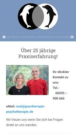 Vorschau der mobilen Webseite www.paartherapie-psychotherapie.de, Joy: Heilpraktiker Praxis für Paartherapie und Psychotherapie
