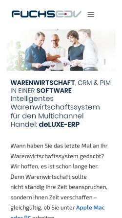Vorschau der mobilen Webseite www.fuchs-edv.de, Fuchs EDV Vertriebs GmbH