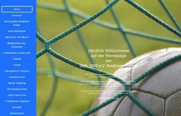 Vorschau von www.skg-rodheim.com, Sport- und Kulturgemeinschaft Rodheim (SKG) 1888 e.V. Rodheim-Bieber