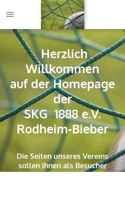 Vorschau der mobilen Webseite www.skg-rodheim.com, Sport- und Kulturgemeinschaft Rodheim (SKG) 1888 e.V. Rodheim-Bieber