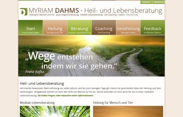 Vorschau von www.heil-lebensberatung.de, Myriam Dahms - Heil- und Lebensberatung