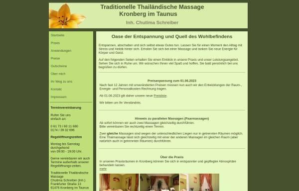 Vorschau von thaimassage-kronberg.de, Traditionelle Thailändische Massage