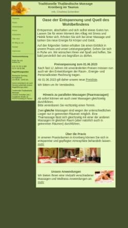 Vorschau der mobilen Webseite thaimassage-kronberg.de, Traditionelle Thailändische Massage