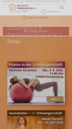 Vorschau der mobilen Webseite www.geburtshaus-fulda.de, Geburtshaus und Familienzentrum e. V. Fulda