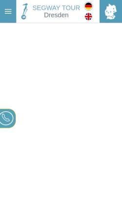 Vorschau der mobilen Webseite www.seg-tour-dresden.de, Segway Tour Dresden