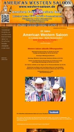 Vorschau der mobilen Webseite www.western-saloon.de, American Western Saloon