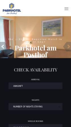 Vorschau der mobilen Webseite www.frankfurtairport-hotel.de, Parkhotel am Posthof