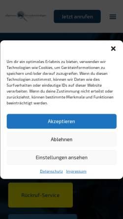 Vorschau der mobilen Webseite www.kehr-gutachten.de, Allgemeine Kfz-Sachverständigen GmbH