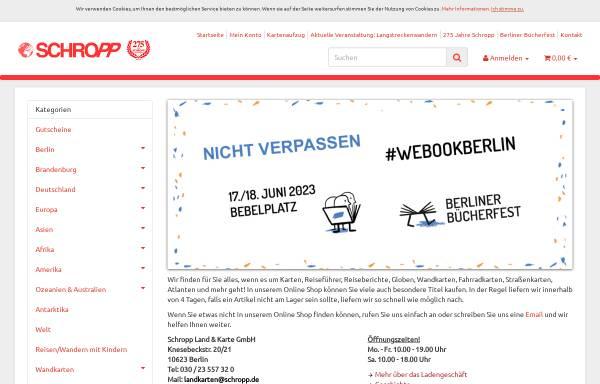 Vorschau von www.landkartenschropp.de, Schropp Land & Karte