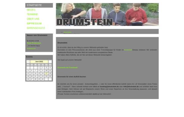 Vorschau von drumstein.de, Drumstein percussion