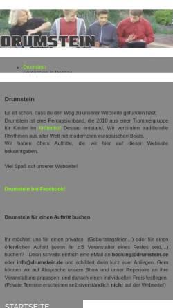 Vorschau der mobilen Webseite drumstein.de, Drumstein percussion
