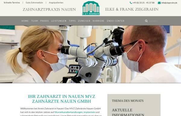 Vorschau von www.zahnarzt-nauen.de, Medizinisches Versorgungszentrum (MVZ) Elke & Frank Ziegerahn