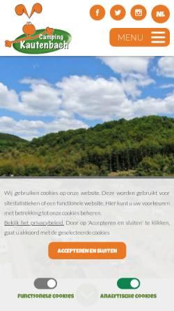 Vorschau der mobilen Webseite campingkautenbach.lu, Camping Kautenbach