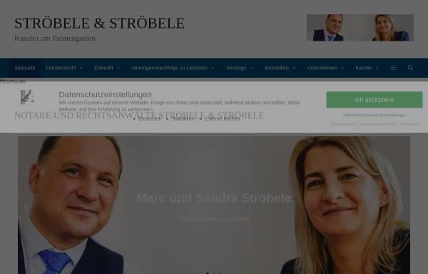 Vorschau von www.stroebele-rechtsanwalt.de, Marc Ströbele, Fachanwalt