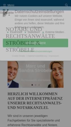 Vorschau der mobilen Webseite www.stroebele-rechtsanwalt.de, Marc Ströbele, Fachanwalt