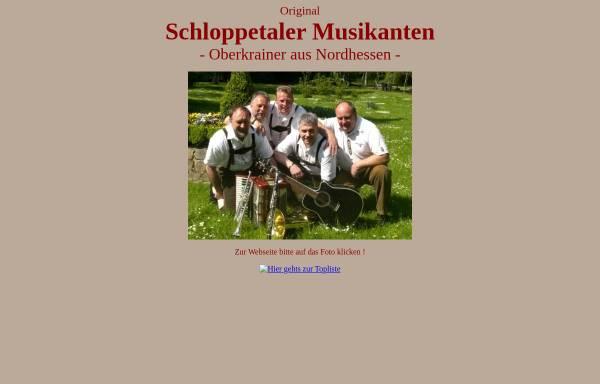 Vorschau von schloppetaler.de, Original Schloppetaler Musikanten