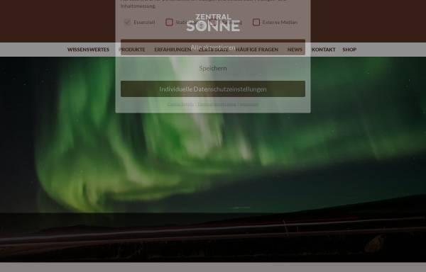 Vorschau von www.zentralsonne.at, Lakosa Handels GmbH