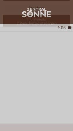Vorschau der mobilen Webseite www.zentralsonne.at, Lakosa Handels GmbH