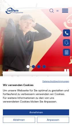 Vorschau der mobilen Webseite confern.de, confern Möbeltransportbetriebe GmbH
