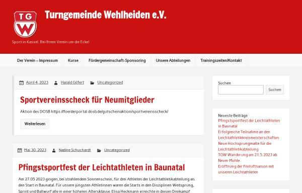 Vorschau von www.tg-wehlheiden.de, Turngemeinde Wehlheiden e.V.