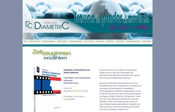 Vorschau von www.diametric-verlag.de, Zur Konstruktion des Weiblichen, Robin Britta Georg, Geschlechterforschung, Diametric Verlag