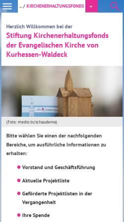 Vorschau der mobilen Webseite www.ekkw.de, Stiftung Kirchenerhaltungsfonds
