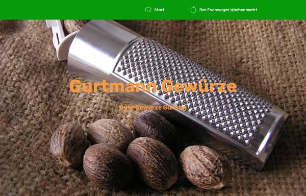 Vorschau von www.gurtmann-gewuerze.de, Gurtmann Gewürze