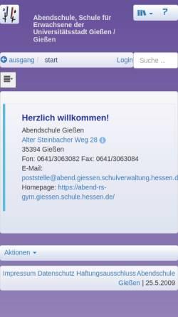 Vorschau der mobilen Webseite abend-rs-gym.giessen.schule.hessen.de, Abendschule Gießen