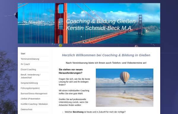 Vorschau von www.coaching-in-giessen.de, Coaching und Bildung in Giessen