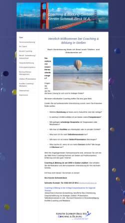 Vorschau der mobilen Webseite www.coaching-in-giessen.de, Coaching und Bildung in Giessen
