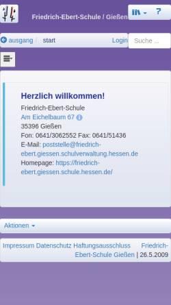 Vorschau der mobilen Webseite friedrich-ebert.giessen.schule.hessen.de, Friedrich-Ebert-Schule