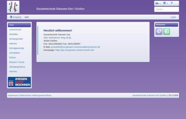 Vorschau von www.gs-ost.giessen.schule.hessen.de, Gesamtschule Giessen-Ost