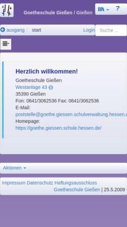 Vorschau der mobilen Webseite goethe.giessen.schule.hessen.de, Goetheschule Gießen