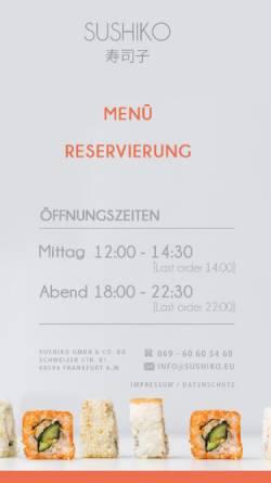 Vorschau der mobilen Webseite www.frankfurt-sushi.de, Sushiko - Sushi-Restaurant