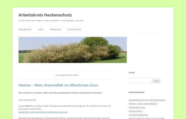 Vorschau von www.heckenschutz.de, Arbeitskreis Heckenschutz