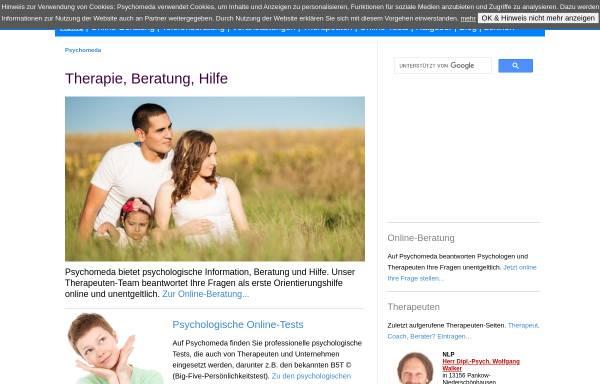 Vorschau von www.psychomeda.de, Psychomeda - Das Psychologieportal