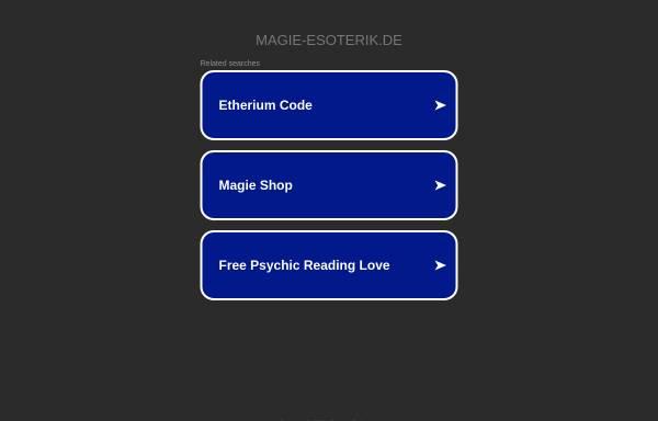 Vorschau von www.magie-esoterik.de, Magie und Esoterik Shop