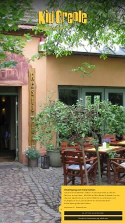 Vorschau der mobilen Webseite www.kidcreole.de, Restaurant Kid Creole