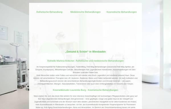 Vorschau von www.gesundundschoen.net, Gesund & Schön - Martina Böttcher, Heilpraktikerin