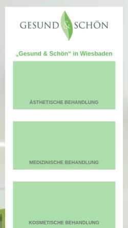Vorschau der mobilen Webseite www.gesundundschoen.net, Gesund & Schön - Martina Böttcher, Heilpraktikerin
