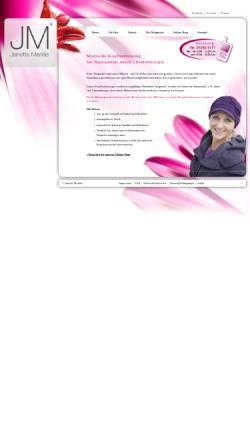 Vorschau der mobilen Webseite www.janette-merkle.de, JM Kopfbedeckungen